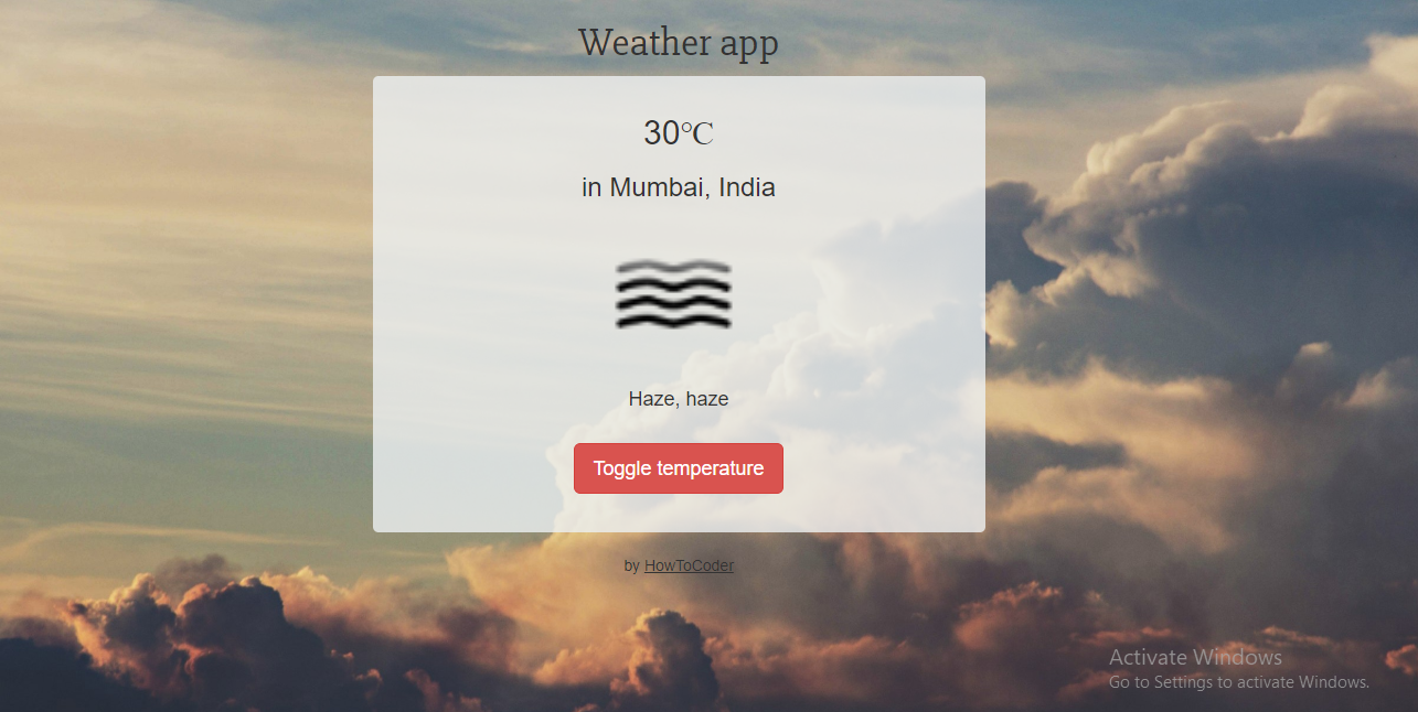 Freecodecamp Weather App Project